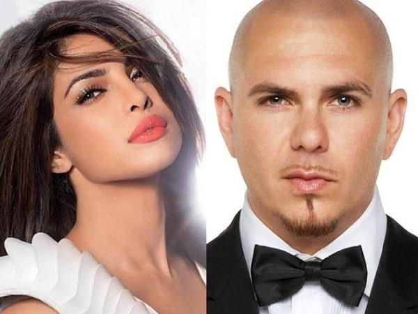 priyanka chopra sing with american rapper pitbull