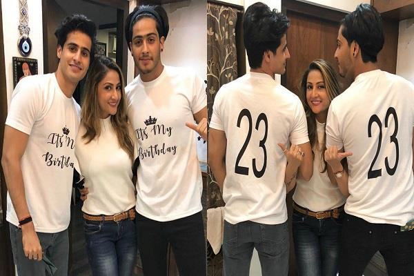 urvashi dholakia celebrates birthday of her twins children
