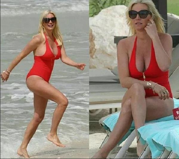 denise van outen 44 turns up the heat in bikini