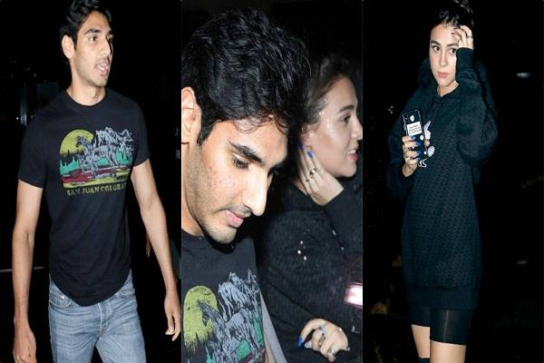 sunil shetty son ahaan shetty spotted with girlfriend at dinner date