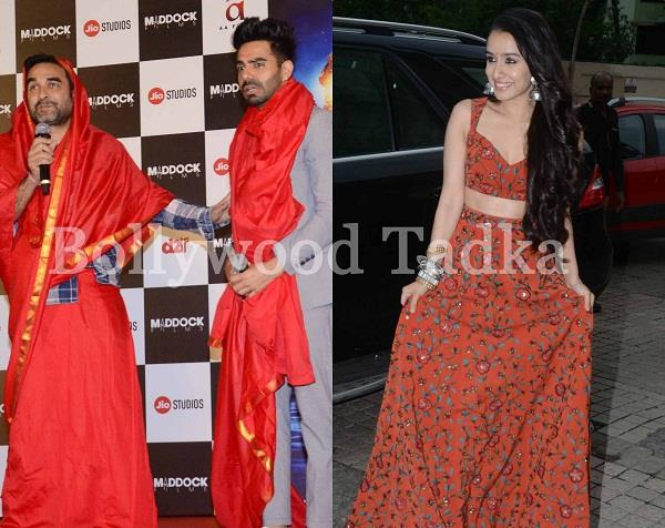 stree trailer launch event pankaj tripathi and shraddha kapoor attend event