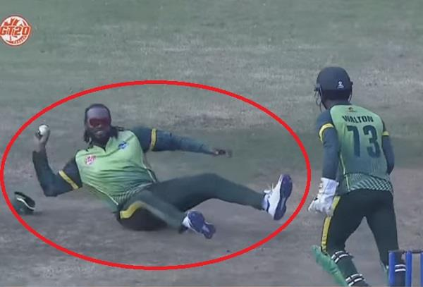 chris gayle outstanding catch video