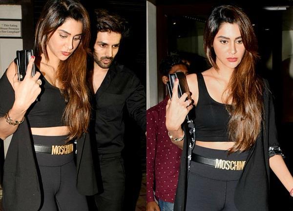 kartik aaryan spotted with his girlfriend at dinner date