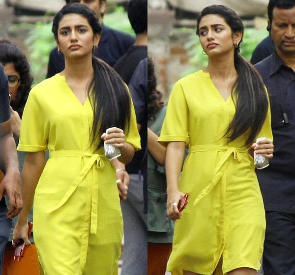priya prakash warrier snapped at ad shoot in