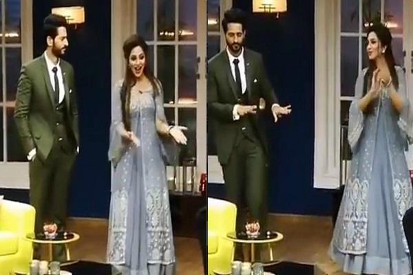 hiten tejwani and arshi dance on mere rashke qamar vedio viral