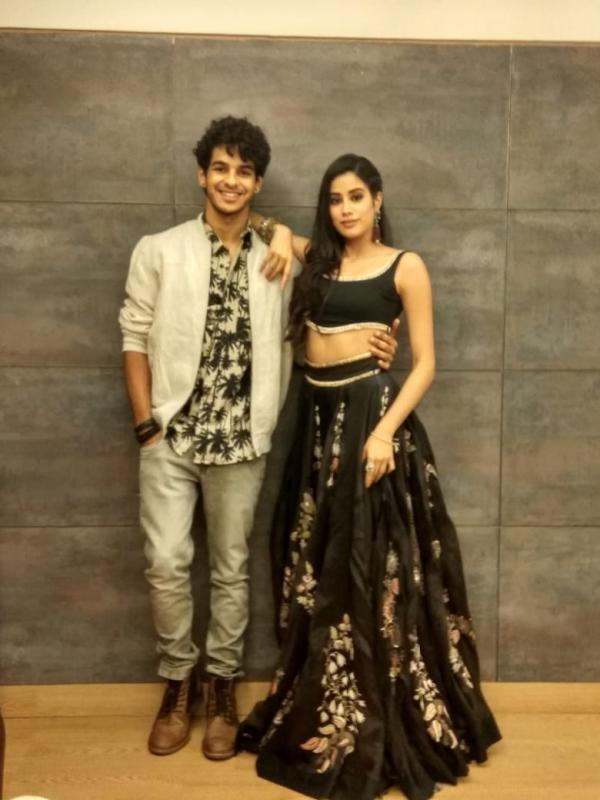 janhvi kapoor and ishaan khatter promote her film