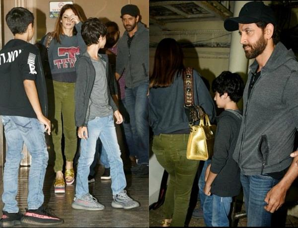 hrithik roshan movie dat son s with ex wife sussanne