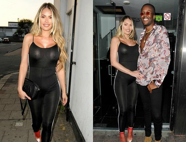chloe sims wows in a tight jumpsuit