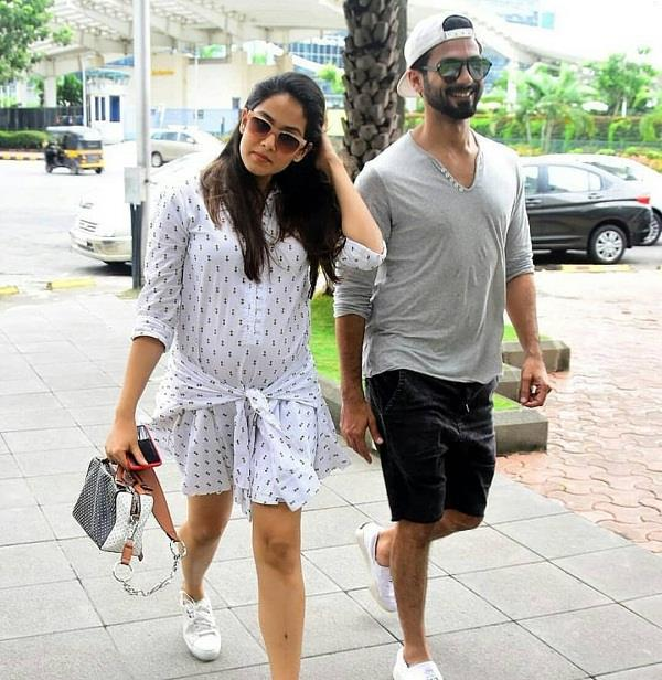 shahid kapoor and mira kapoor spotted at lunch date