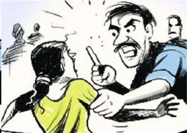 married woman beaten up