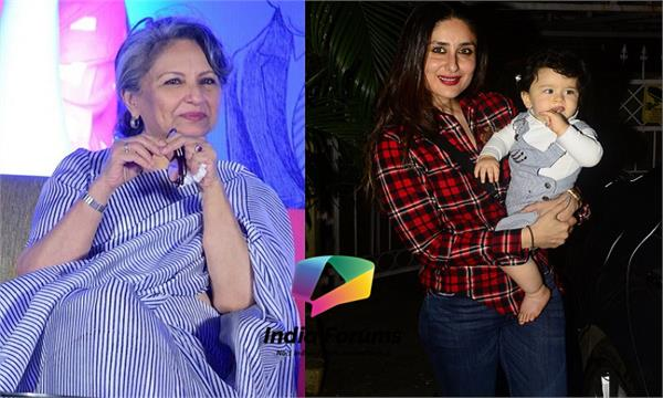 sharmila tagore says taimur is more famous than me
