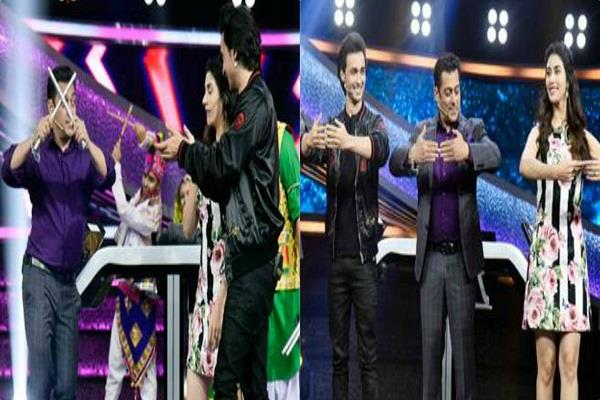 loveratri starcast did garba on salman khan show dus ka dum