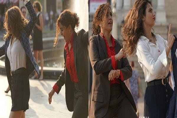 fatima sana and sanya malhotra europe street dance video viral