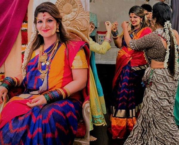 pregnant rambha at her baby shower