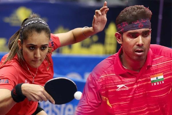 achanta manika is out in the round 16 of the table tennis singles