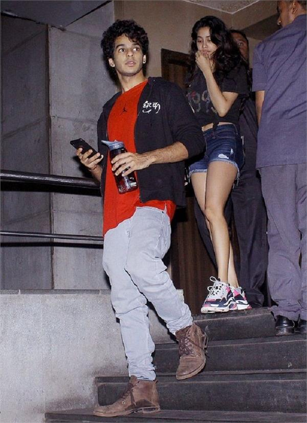 janhvi kapoor and ishaan spotted outside in cinema