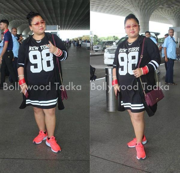 bharti singh spotted at airport