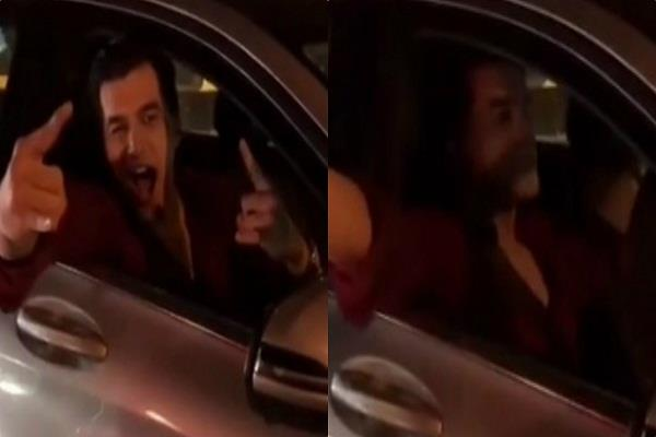mohsin khan got stuck in traffic jam