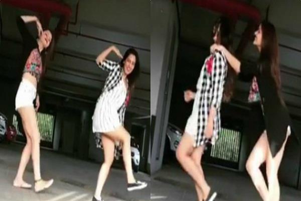 rubina dilaik srishty rode dancing on jasime sandas garry sandhu punjabi song