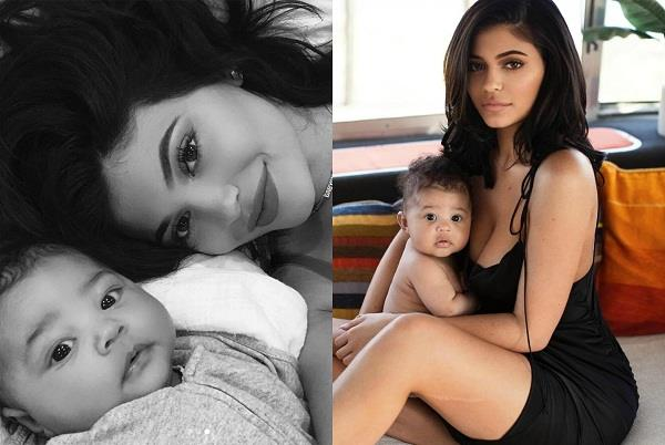 kylie jenner cute photoshoot with baby stormi