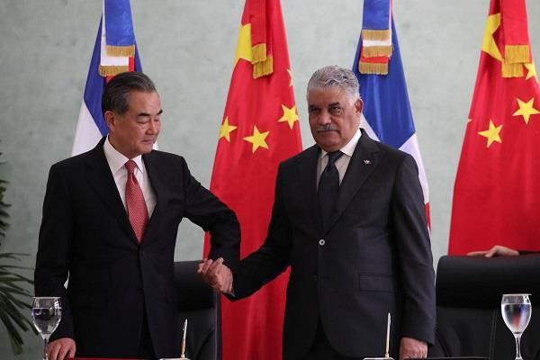 china opens the embassy santo in the caribbean country dominican republic