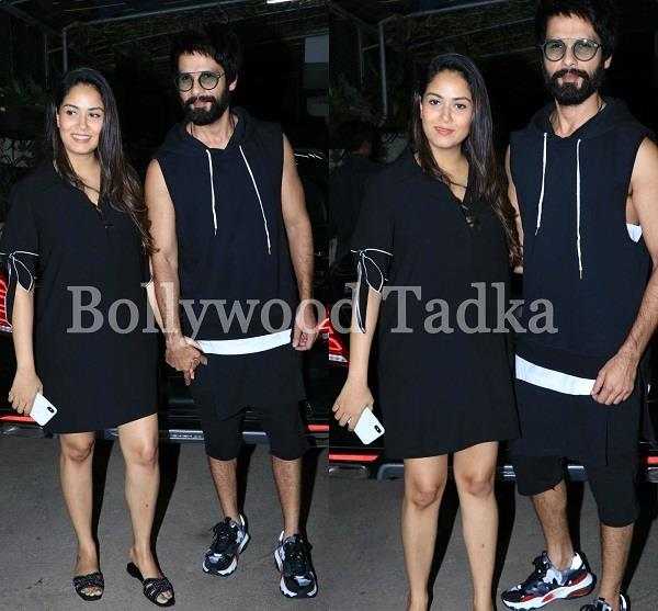 after delivery mira spotted first time with shahid kapoor