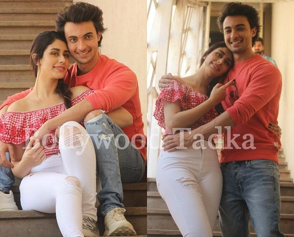 warina hussain and aayush sharma at film parmotion