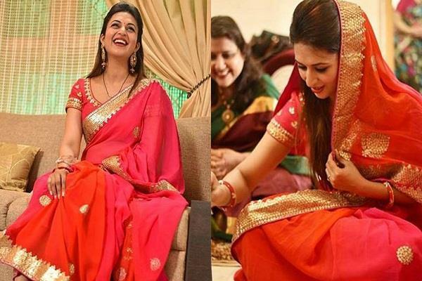 divyanka tripathi looks stuning in red saree