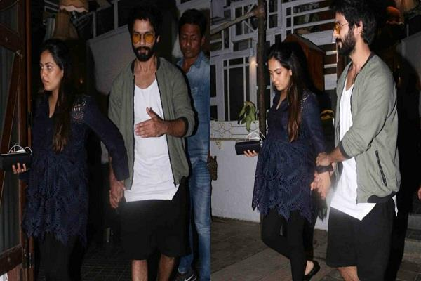 shahid kapoor with wife mira at dinner date