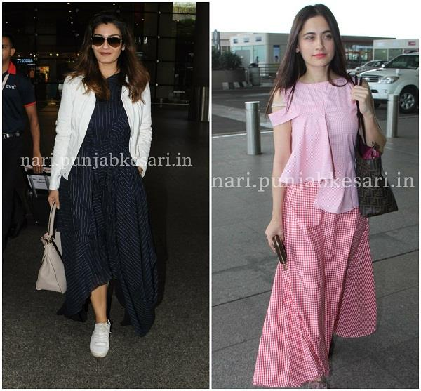 actress latest airport style