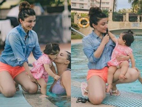 neha dhupia birthday wish for inaaya kemmu on her first birthday