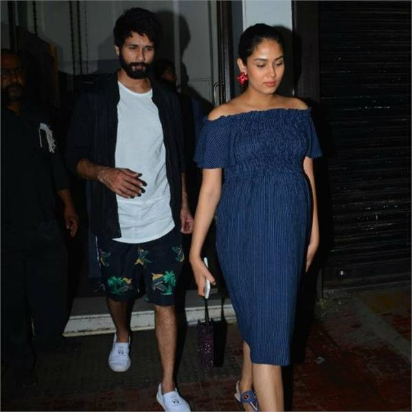 shahid kapoor spotted with wife mira