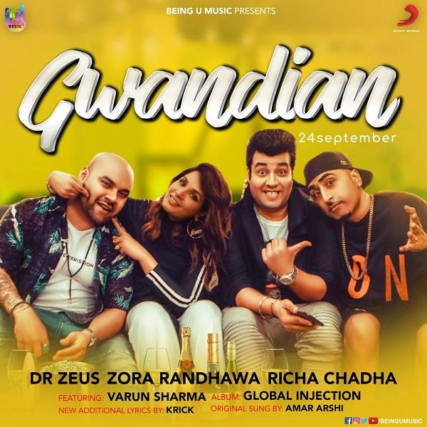 poster of gwandian starring richa chadha varun sharma