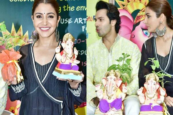 anushka sharma and varun dhawan at ganesh utsav