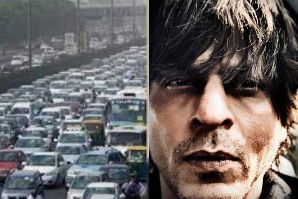 shahurkh khan saying about traffic jam in delhi