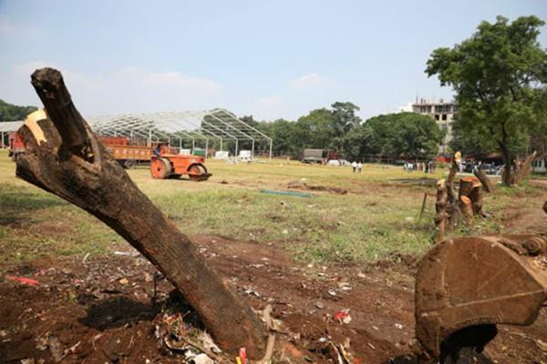 opposition parties accused trees cut down for modi pune rally