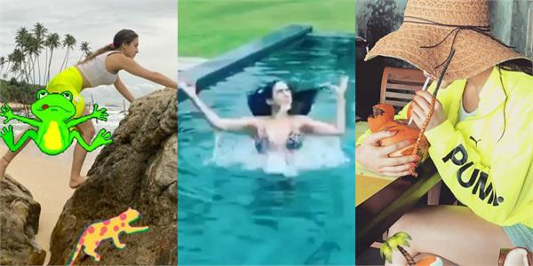 sara ali khan swimming pool video viral on social media