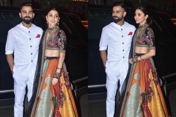 anushka sharma attend anil kapoor diwali party with hubby virat kohli