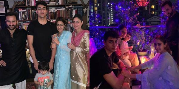 sara ali khan celebrate diwali with saif ali khan kareena kapoor