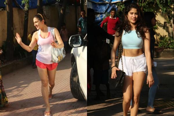 who is the best in gym look sara ali khan or janhvi kapoor