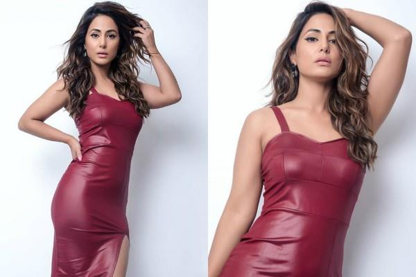 hina khan flaunts her perfect figure in bodycon dress