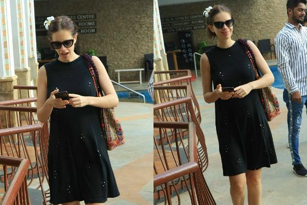 kalki koechlin proudly flaunts her baby bump in short dress