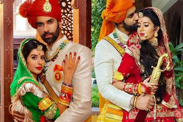 charu asopa royal photoshoot with hubby rajeev sen