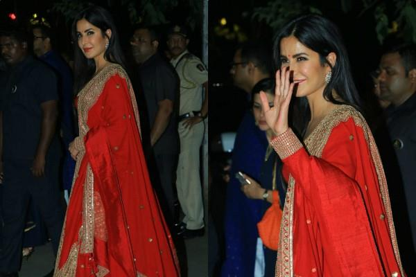 katrina kaif looks gorgeous as she attend bachchan family diwali party