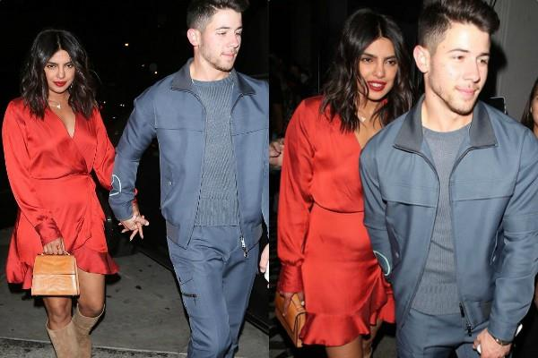 priyanka chopra nick jonas look classy at their latest pictures