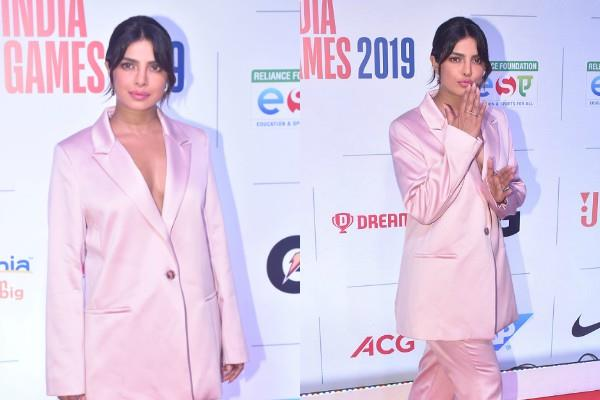 priyanka chopra looks stunning at nba india games 2019 party