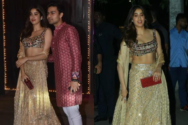 janhvi kapoor attend anil kapoor diwali party with akshat rajan