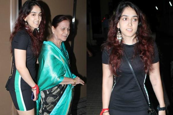ira khan attend the sky is pink screening with grandmother zeenat hussain
