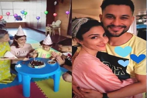 soha celebrated her birthday with kunal inaya and mother sharmila
