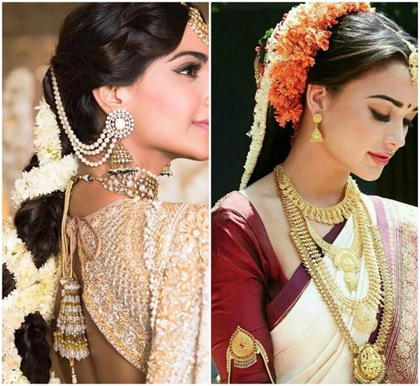 give your hairstyle a new look by applying this festive season gajra see pics